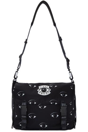 Kenzo - Black Nylon Eye Messenger Bag
