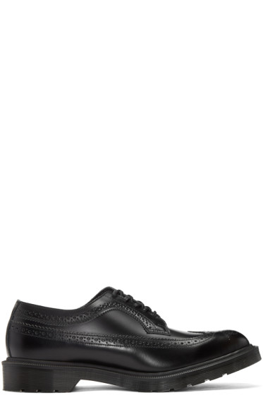 Dr. Martens - Black 'Made In England' 3989 Boanil Brush Brogues