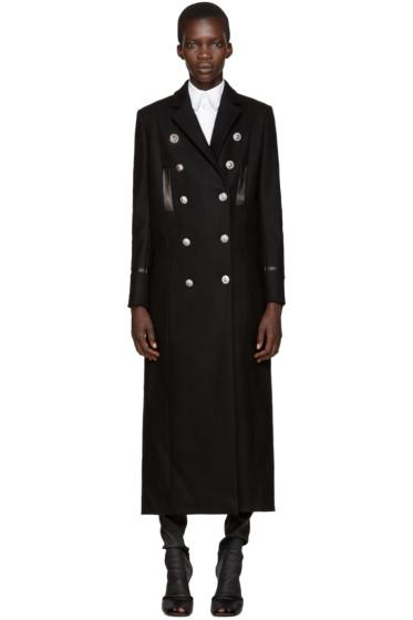 Versus - Black Wool Long Coat