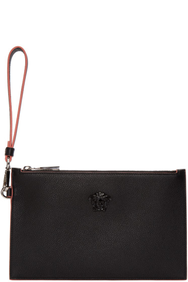 Versace - Black Small Medusa Zip Pouch