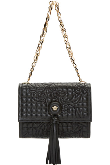 Versace - Black Quilted Vanitas Shoulder Bag