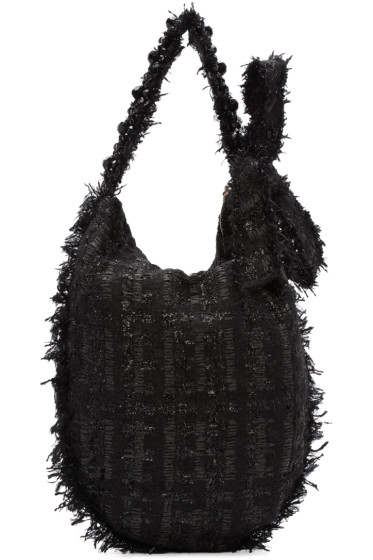 Simone Rocha - Black Tweed Tote
