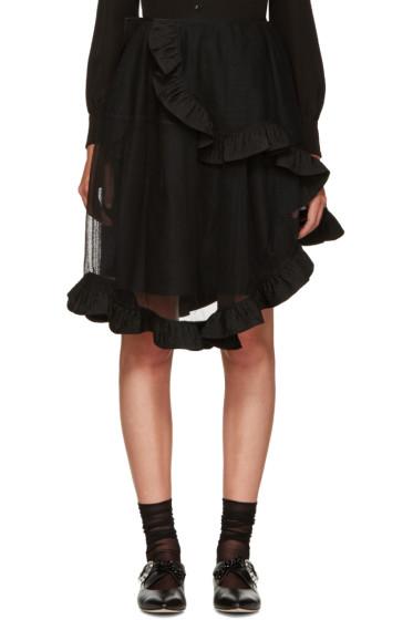Simone Rocha - Black Sheer Wrap Skirt