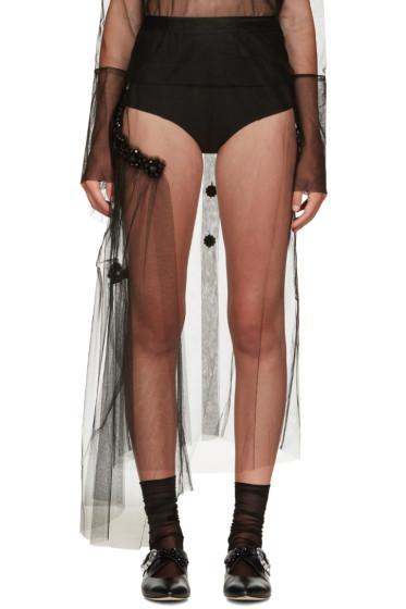 Simone Rocha - Black Sheer Skirt