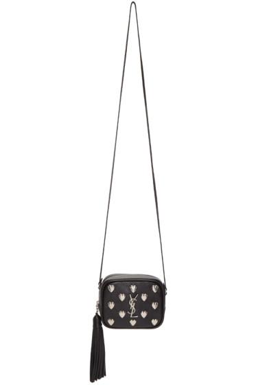 Saint Laurent - Black Heart Studded Monogram Blogger Bag