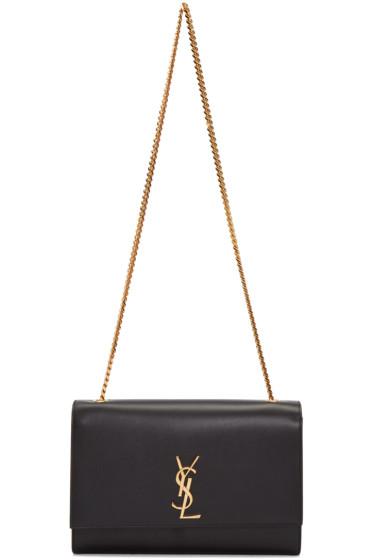 Saint Laurent - Black Large Monogram Kate Chain Bag