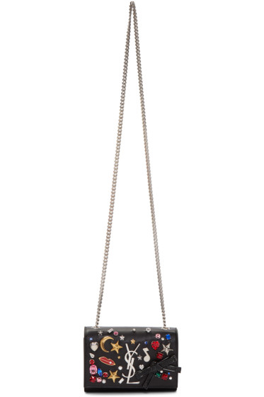 Saint Laurent - Black Small Mix & Match Monogram Kate Chain Bag