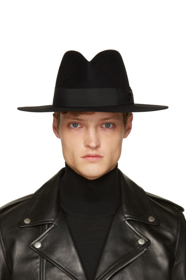 Saint Laurent - Black Felt Fedora