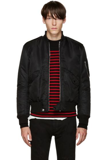Saint Laurent - Black Nylon Bomber Jacket