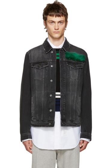 MSGM - Black Fur Appliqué Jacket