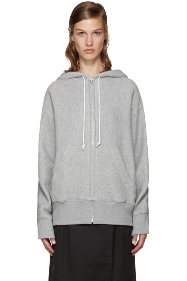 Sacai - Grey Knit Back Hoodie