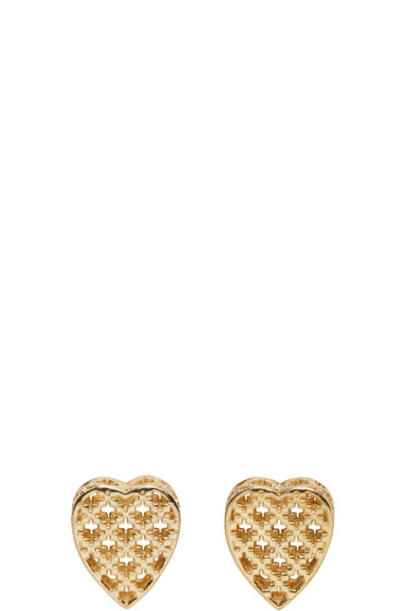 Gucci - Gold Diamantissima Heart Earrings