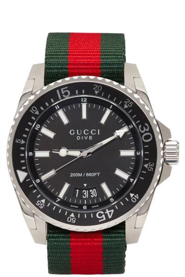 Gucci - Silver Dive Watch