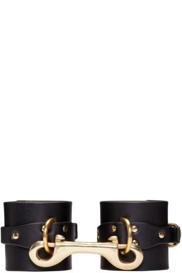 Fleet Ilya - Black Leather Cuffs