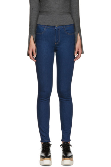 Stella McCartney - Blue High-Rise Skinny Jeans