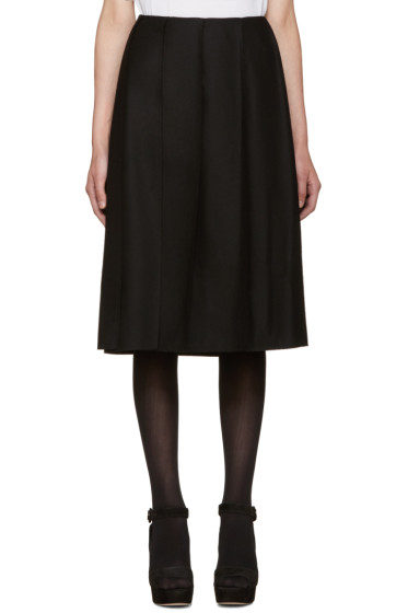 Nina Ricci - Black Wool Pleated Skirt