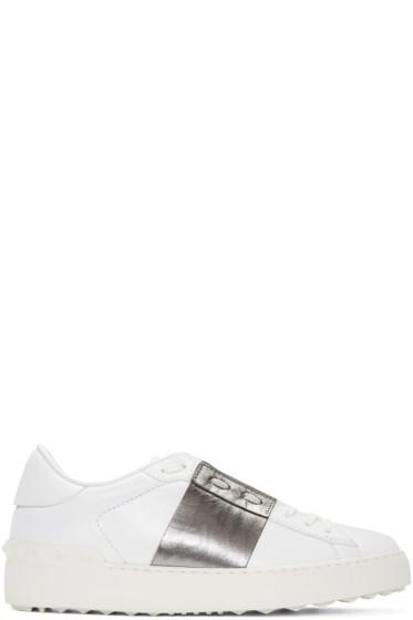 Valentino - White & Silver Open Sneakers