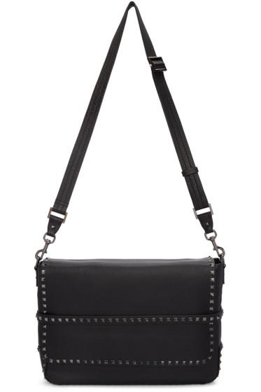 Valentino - Black Rockstud Messenger Bag