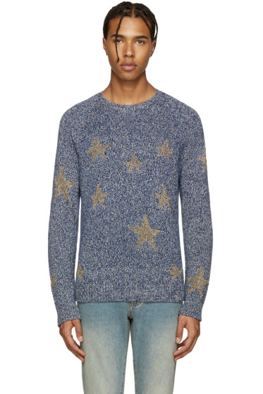 Valentino - Navy & Gold Stars Sweater