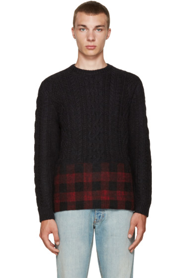 Valentino - Black & Red Wool Sweater