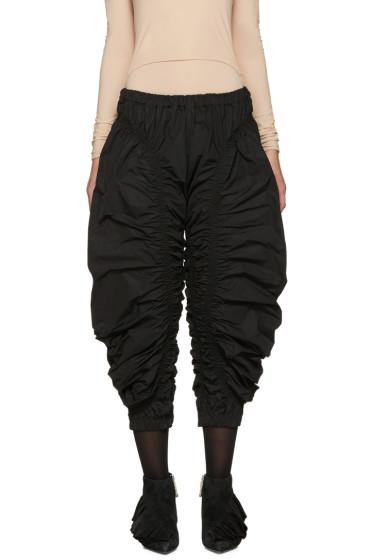 J.W.Anderson - Black Ruched Jodhpur Trousers