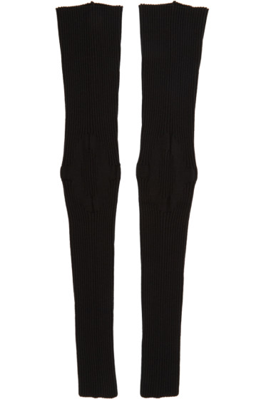 Thamanyah - Black Ribbed Leg Warmers