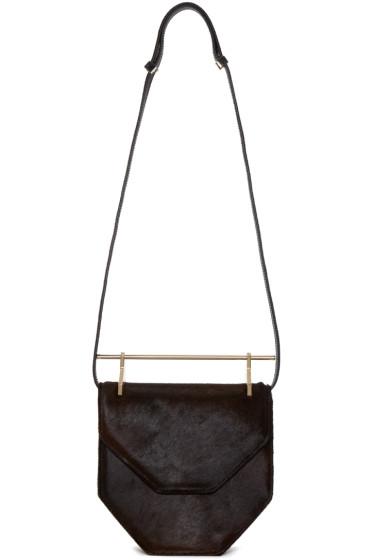 M2Malletier - Brown Calf-Hair Amor Fati Shoulder Bag