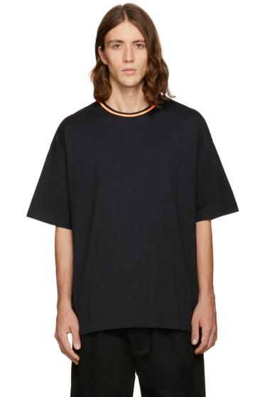 Facetasm - Black Oversized Plain T-Shirt