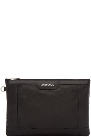 Jimmy Choo - Black Leather Derek Pouch