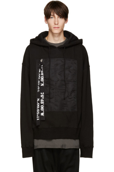 D.Gnak by Kang.D - Black Big Pocket Hoodie