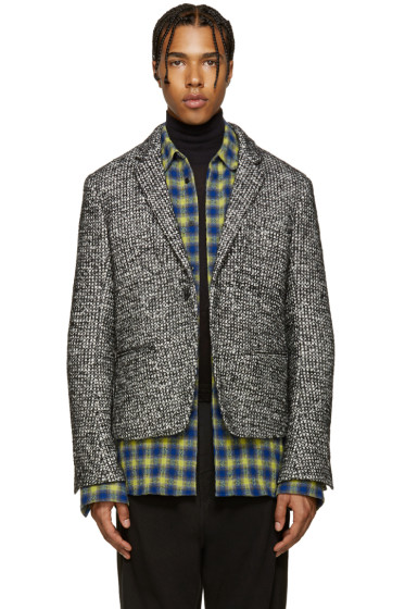 Haider Ackermann - Black & White Tweed Jacket