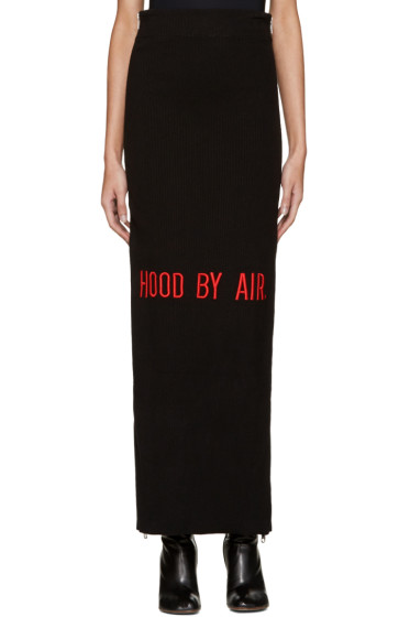 Hood by Air - Black Double-Zip Maxi Skirt
