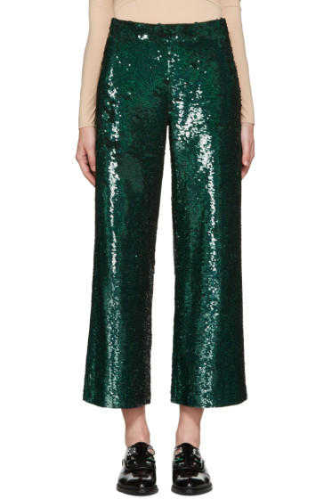 Ashish - Green Sequin Trousers
