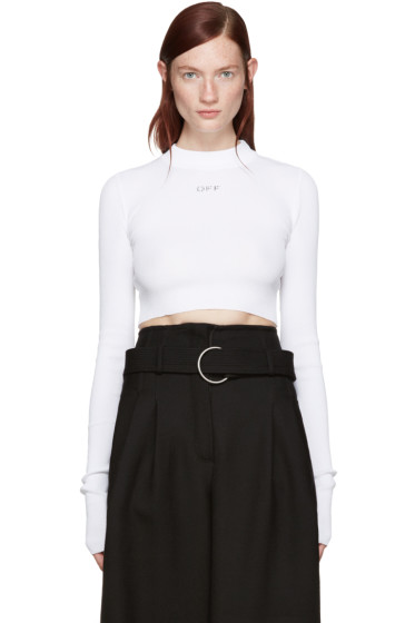 Off-White - White Transparent Pullover
