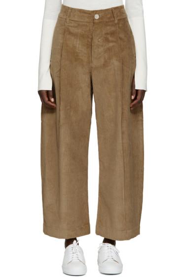 Studio Nicholson - Tan Corduroy Bonnard Trousers