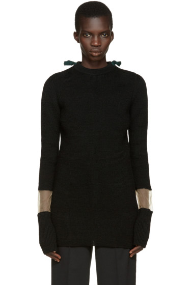 Toga - Black Tie Collar Sweater