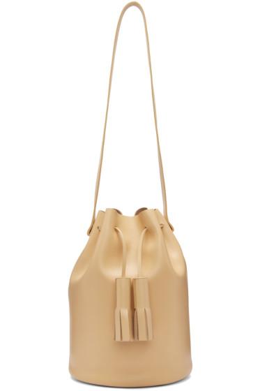 Building Block - Beige Tassel Bucket Bag