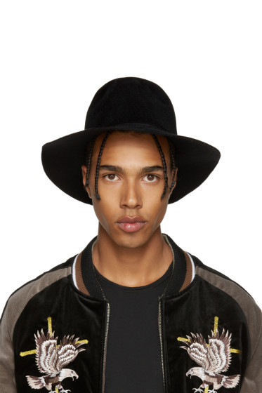 Diet Butcher Slim Skin - Black Felt Wide Brim Hat
