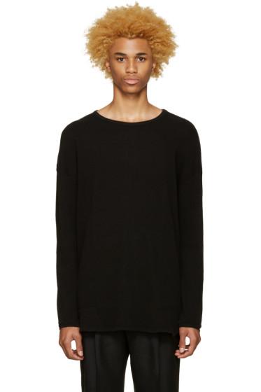 Undecorated Man - Black Waffle Cotton T-Shirt