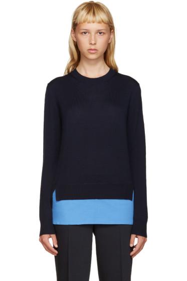 Jil Sander Navy - Navy Shirt Hem Sweater