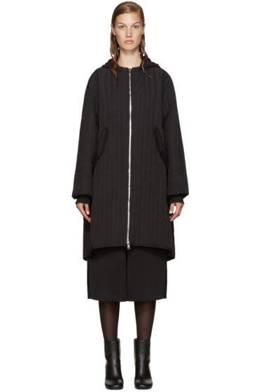 Nomia - Black Quilted Twill Parka