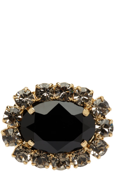 Erdem - Black Jewel Hair Clip