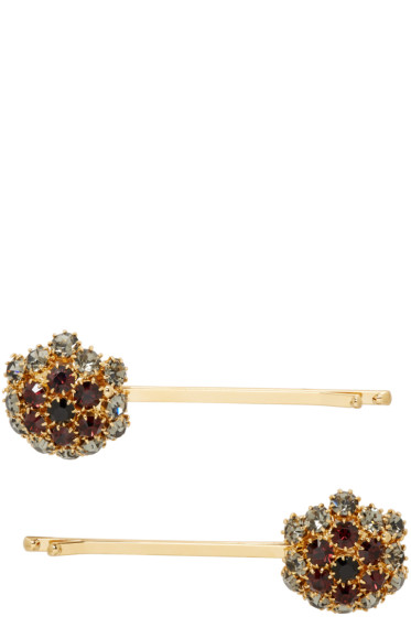 Erdem - Gold Crystal Hair Slide