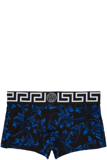 Versace Underwear - Black Printed Boxer Briefs