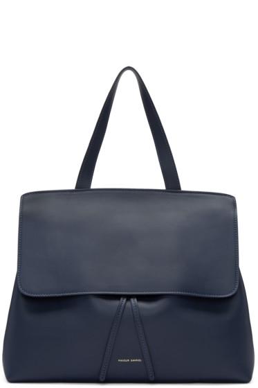 Mansur Gavriel - Navy Leather Lady Bag