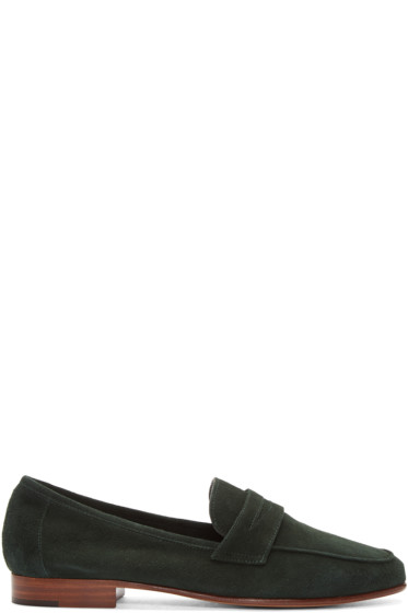 Mansur Gavriel - Green Suede Classic Loafers