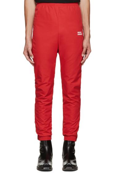 Vetements - Red 'Unidad Hombres' Track Pants