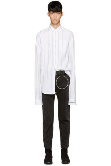 Vetements - White Striped Shirt