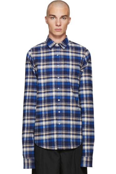 Vetements - Blue Flannel Check Shirt