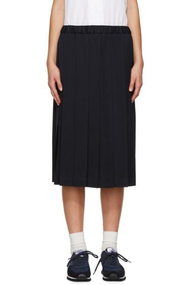 Comme des Garçons Girl - Navy Wool Pleated Skirt